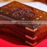 Wooden Brass Inlay Box