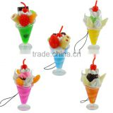 Icecream Hang Mobile Phone Charms for Promotion Gifts