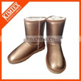 shine leather winter shoe boot