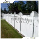 Fentech White Picket Top Decorative PVC Fence Garden Fence