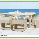 Natural design top grade PE rattan outdoor furniture