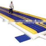 Hot inflatable air track for gym