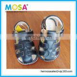 Branded New Toddler Boy's Closed Toe Leather Summer Sandals Black Squeaky Size 0-3Y