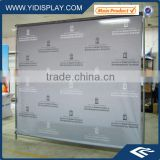 Plastic advertising banner stand