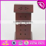 2017 New design double sides of the top wooden incense holder W02A261