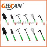 Hot Selling 6pcs A3 steel 50# carton steel Garden Tool Set With paiting in black
