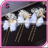 wholesale women types of hair pins with natural flowers