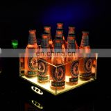 acrylic led ice bucket for beer/vodka bottle promotional