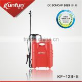 12L New item Knapsack hand sprayer , hand pump, manual pressure sprayer for Agriculture& garden use(KF-12B-E)