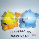 fish design coin bank-terracotta painting