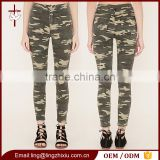 Instyle Ladies jeans top design woman ripped camo denim jean pants