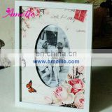 A0114 latest Rose Flower wooden photoes frame photo