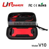New 2015 hot selling 12000mAh mini multi-functional portable car jump starter with compressor