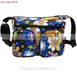 Blue Colorful Printed Fashion Women Nylon Musette Bag