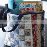 wholesale tote bags -Blue Cotton Goody Bag with Gusset