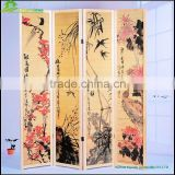 Chinest style design printing on wood Home Decoration Birch Screen high detailed bamboo screens GVSD033