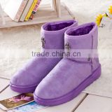 2014 new candy factory Crow snow boots warm the hearts of British style tube skid female cotton padded shoes snow