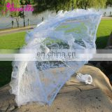 A0201 Roma White Parasol Umbrella with Lace Border