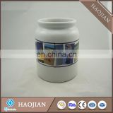 Sublimation Ceramic cookie jar with lid
