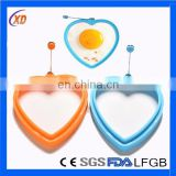 colorful silicone egg beater/heart shaped silicone egg ring