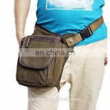 Men Canvas Motorcycle Travel Hiking Riding Hip Belt Bum Waist Leg Bag Tactical Bag