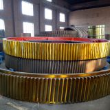 Big Cast Girth Gear Ring/ casting rotating gear ring for cement mixer