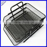 3 layer A4 size black sturday metal mesh file tray,stationery tray,desktop organizer file tray
