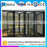 China Aluminium Sliding Interior door Movable Sound Proof Folding Door Used In Commercial Offices