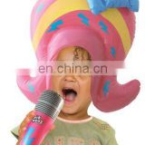 Inflatable Popstar Wig and Mic