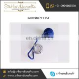 Simple Design Ultra-Light Monkey Fist Nautical Rope Keychain Available from Seller