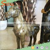 2016 Hot sale Decorative Fiberglass Golden horse Statue For Promotional Gift