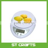 11lb/5kg Electronic Multifunction Food and Kitchen Scale, Stainless Steel Platform, Large LCD Screen, Silver