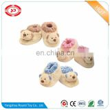 Exquisit baby soft plush animal head toy Art shoes