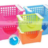 multi-used stackable plastic basket