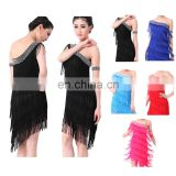 BestDance adult tassel latin dance dress latin ballroom dance dress for women OEM 4 colors