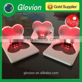 New design led lamps for heart shape with logo print for promotional gift