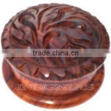 Hand made carved shisham wood tobacco grinder