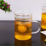 Glass cup kungfu tea cup three part glass mug filter glass cup coffee mug milk cup juice cup for hotel and resturant