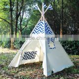 ShiJ Tipi Chevron Cotton Canvas Teepee Tent For Kids