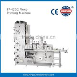 High precision 4 color label flexo printer /flexographic printing machine FP-320G with three die cutting sations
