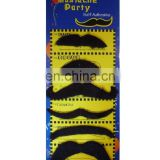 Wholesale Pack of 6 Black Stick on Fake beard Self Adhesive Party Joke Mustache MH2207