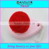 Wholesale Plastic Pink Cleansing face brush with Flower synthetic hair,Soft face wash brush