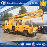 CLW supplier 2017 hottest sale 12m 14m 16m 20m max working height option 4x2 aerial work operation platform truck for sale