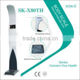 SK-X80th LCD Touch Screen and Bill Operated and Outside Omron Electronic Weight and Height Scale