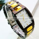 2014 cheap wholesale gold woman vogue Stainless steel watch