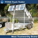 2 Axle Hydraulic Farm Tractor ATV Dump Trailer, Small Dump Trailer