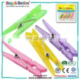 Hot selling cheap 5.2cm colored plastic clothes pegs cloth clips