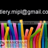 pp plastic straw for liquid / wrapped straw by paper or film individually / bandy straw .