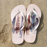 PE/EVA/Rubber Lady Sandal Flip Flop with Printing