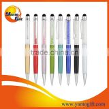 Logo printed twist crystal stylus pen as giveaway